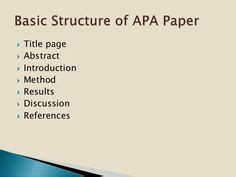 Formatting an APA Style Paper in Microsoft Word 2007